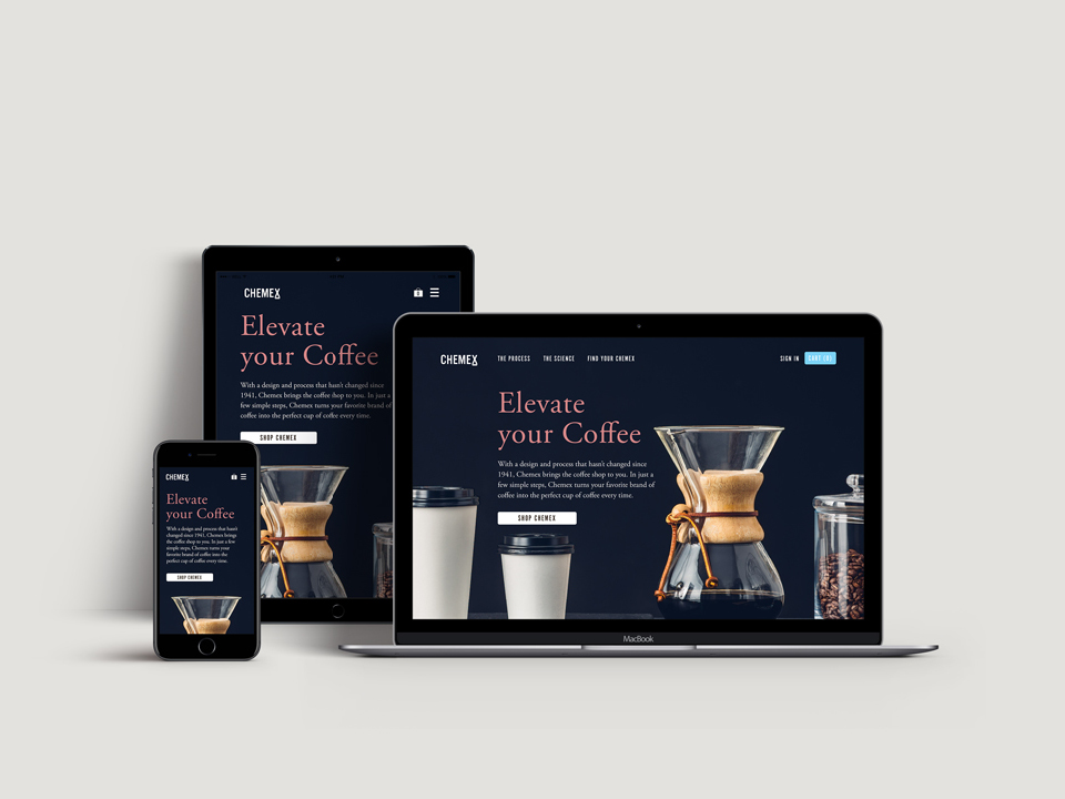 Go to the Chemex Concept Redesign case study on Behance.