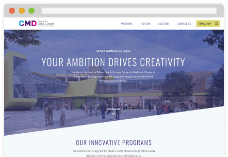 Santa Monica College (CMD) - Website UI