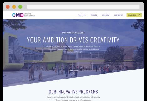 Santa Monica College (CMD) - Website UI