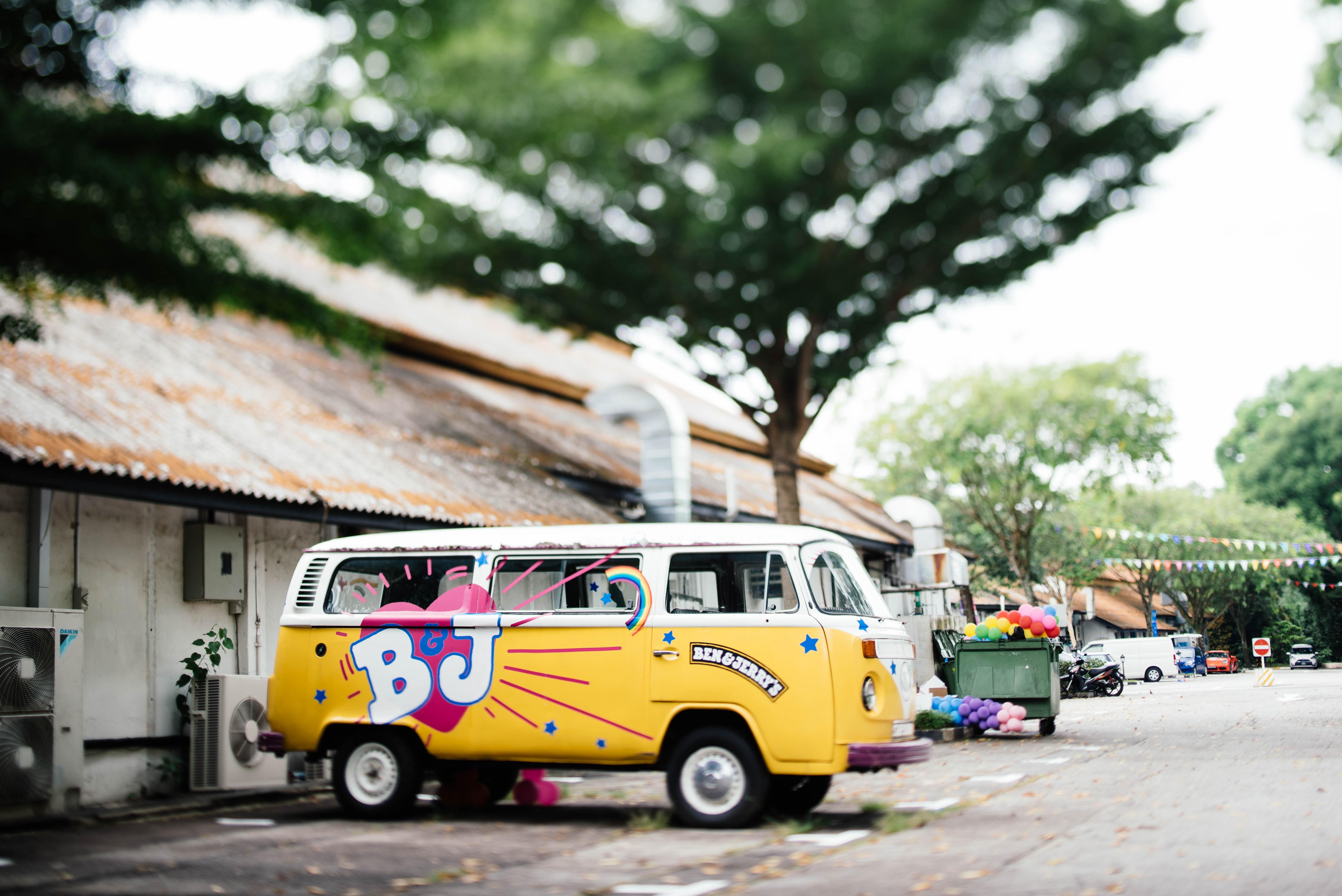 A Ben & Jerry's VW celebrating Pride.