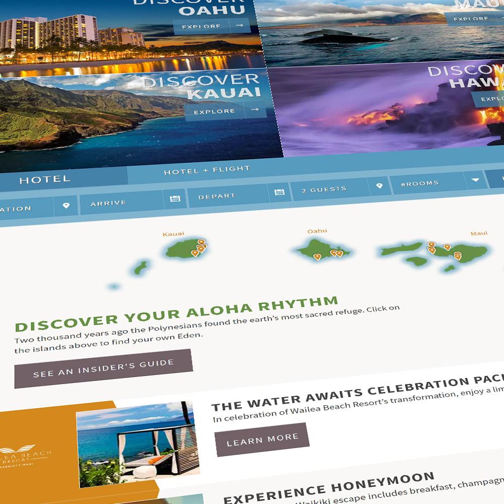 Marriott Hawaii Website Redesign
