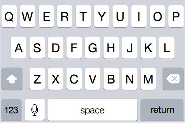 iOS 7 iPhone Keyboard Sketch Freebie