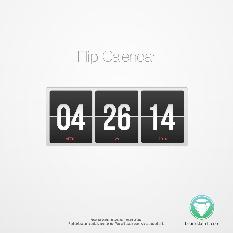 Flip Calendar Sketch Freebie