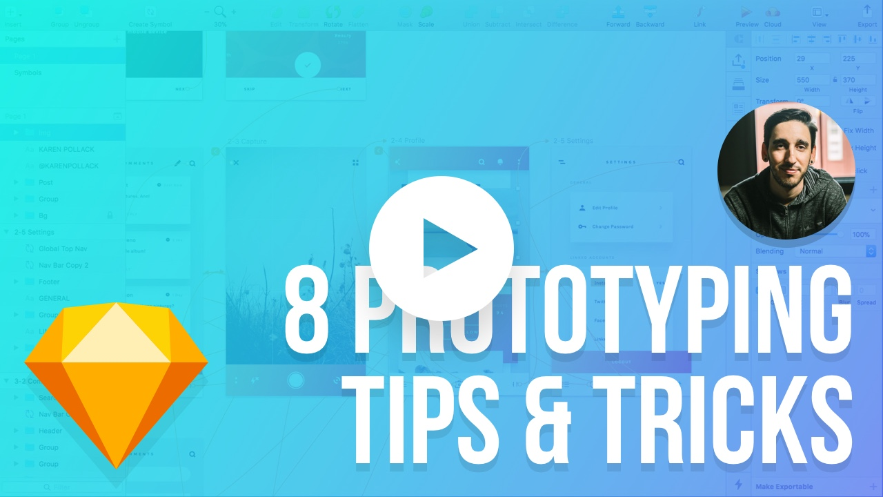 Prototyping in Sketch 49 - 8 Tips and Tricks