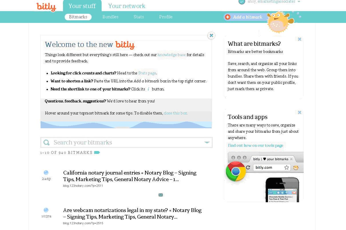 bitly interface redesign