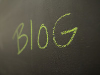 blog written in chalk