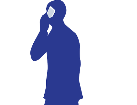 silhouette of person talking on phone