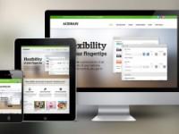 responsive design across 3 screens