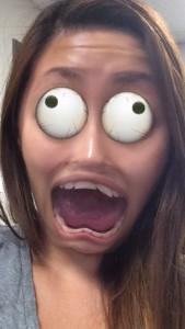 eyes snapchat filter