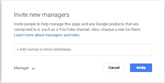 inviting people to manager google my business page