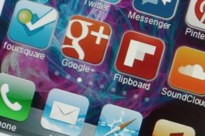 social media apps on smartphone
