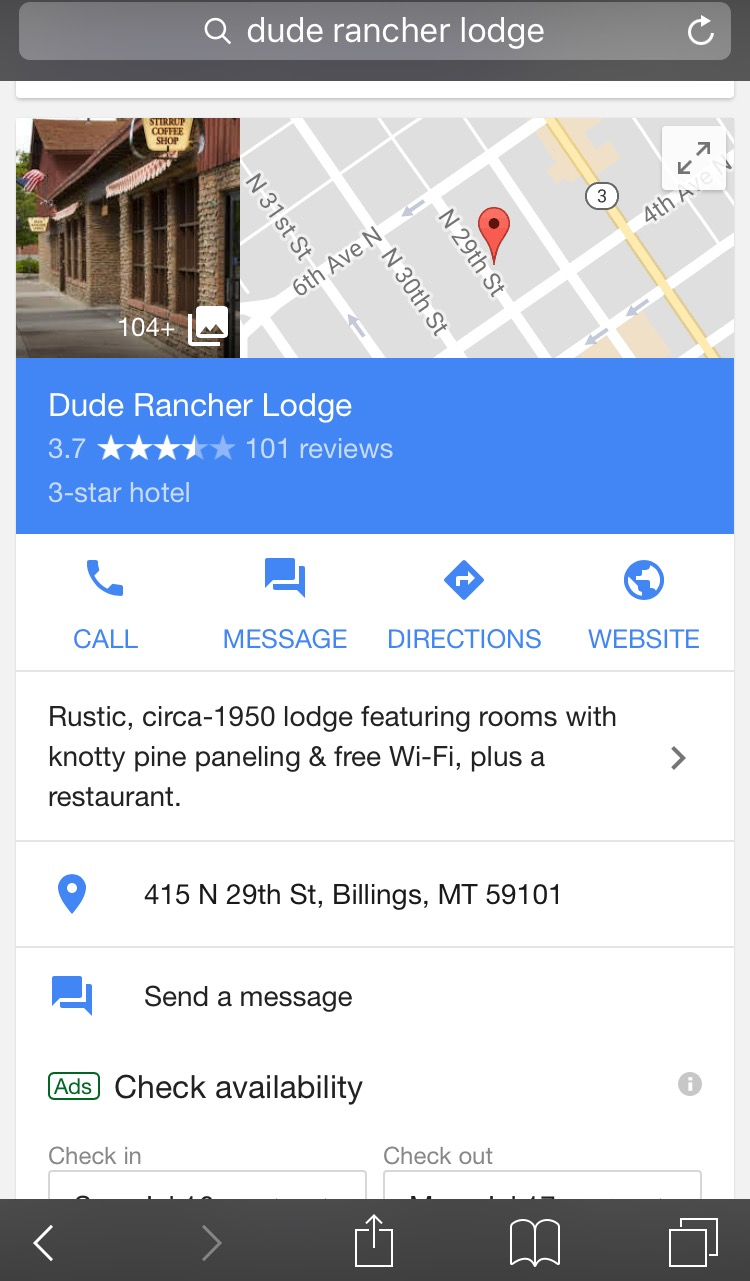 Dude Rancher Google My Business