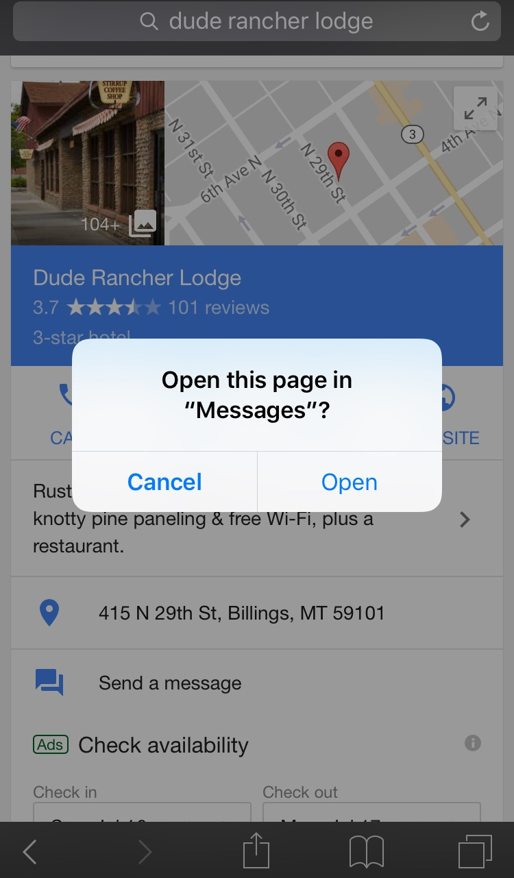 Dude Rancher Google My Business Messaging
