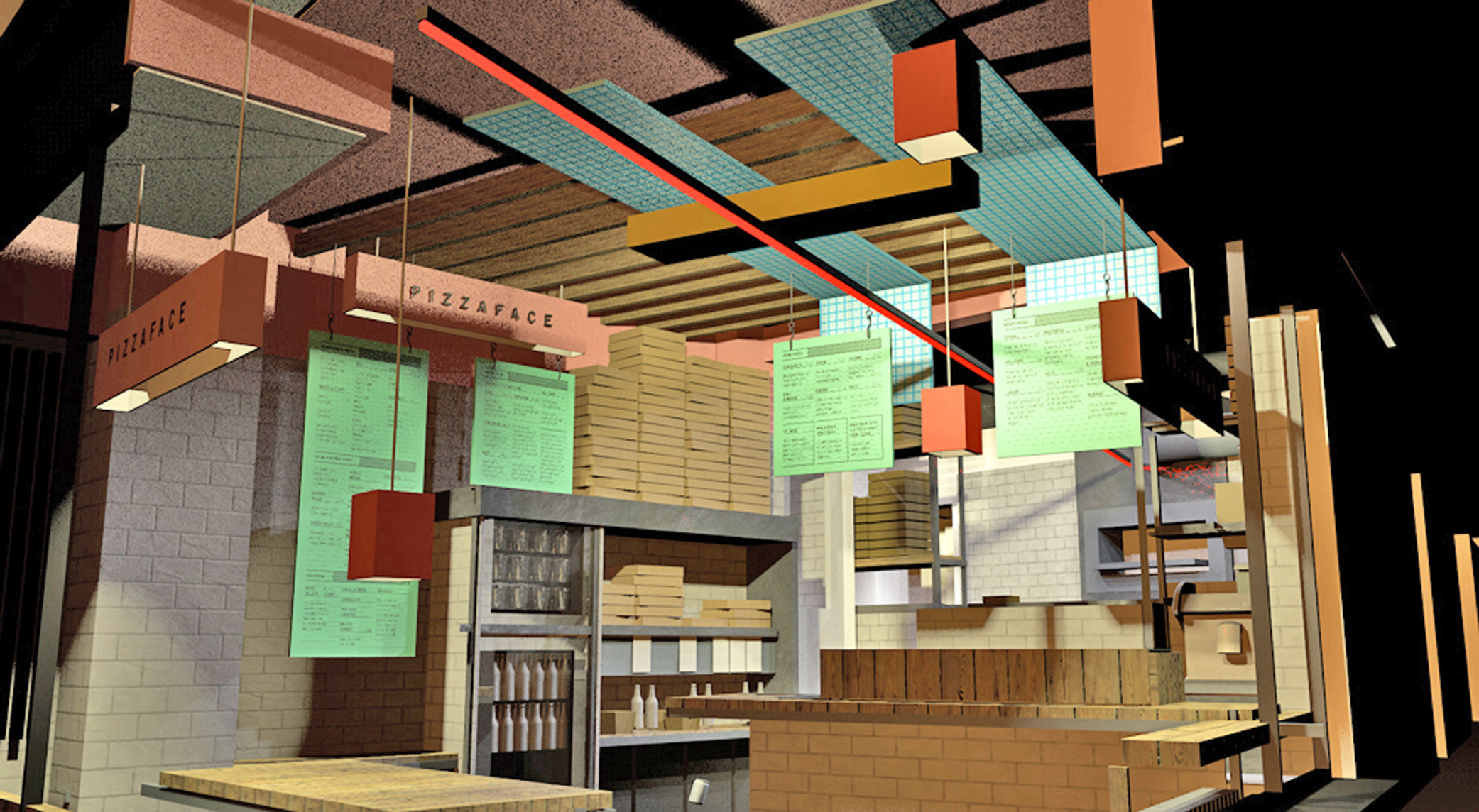 Interior Design 3d Renders Pizzaface Hove