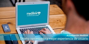 Diseño renovado y más ágil en Medilink, el software para la salud