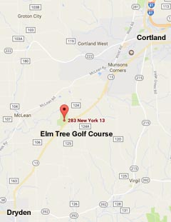Map to Elm Tree Golf Course