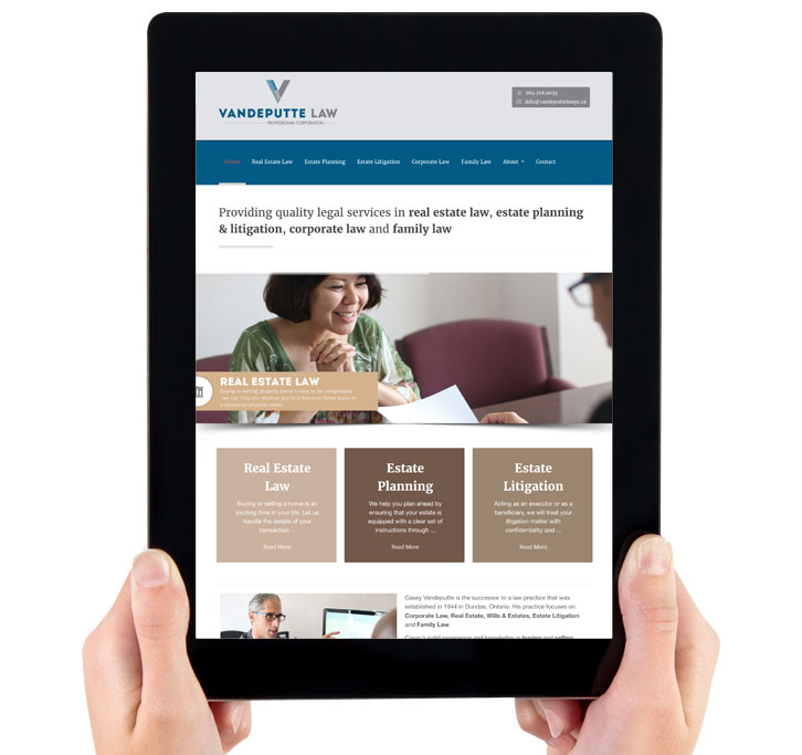 Vandeputte Law - Mobile Website Design image