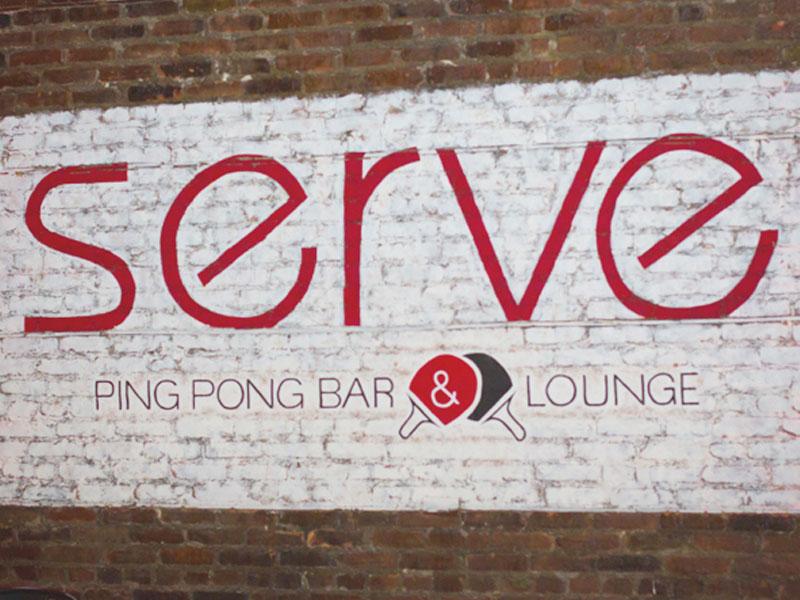 Serve Ping Pong Bar & Lounge portfolio