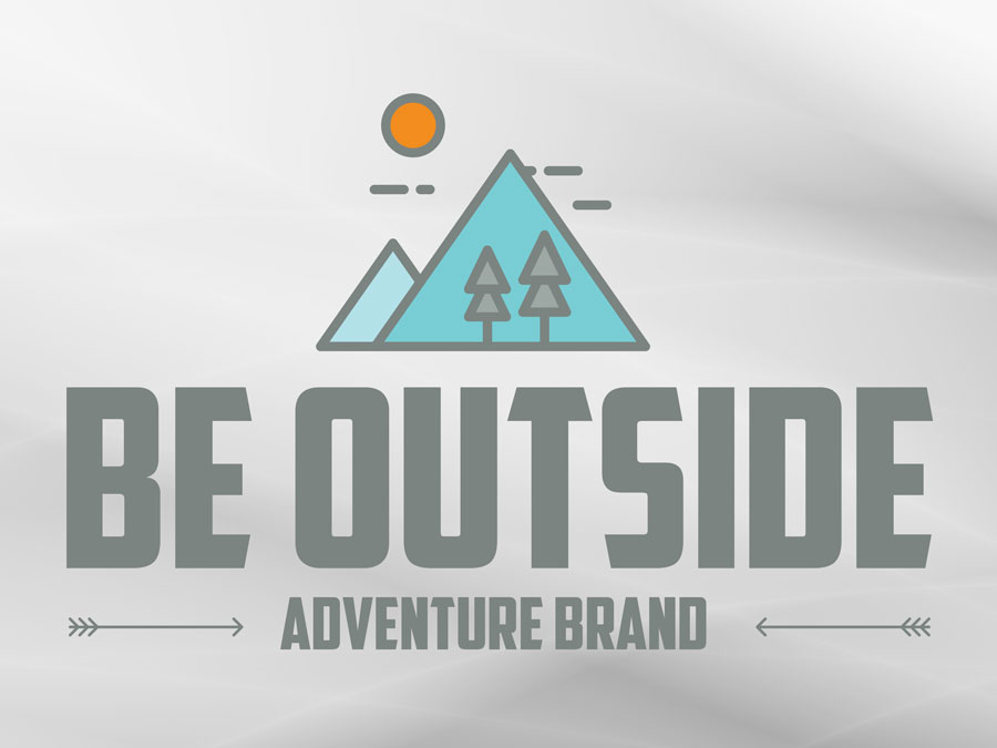 Be Outside - Adventure Brand logo design