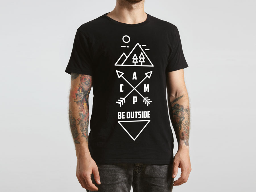 Be Outside - Adventure Brand T-Shirt design 1