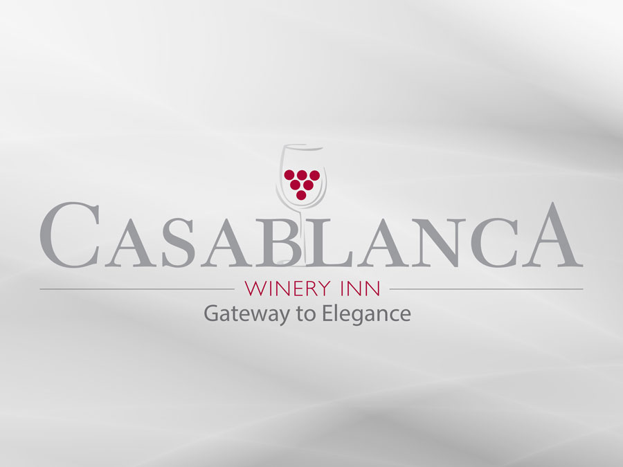Casablanca Winery & Inn logo design