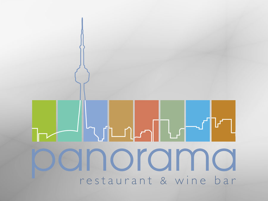 Panorama Restaurant & Wine Bar logo design