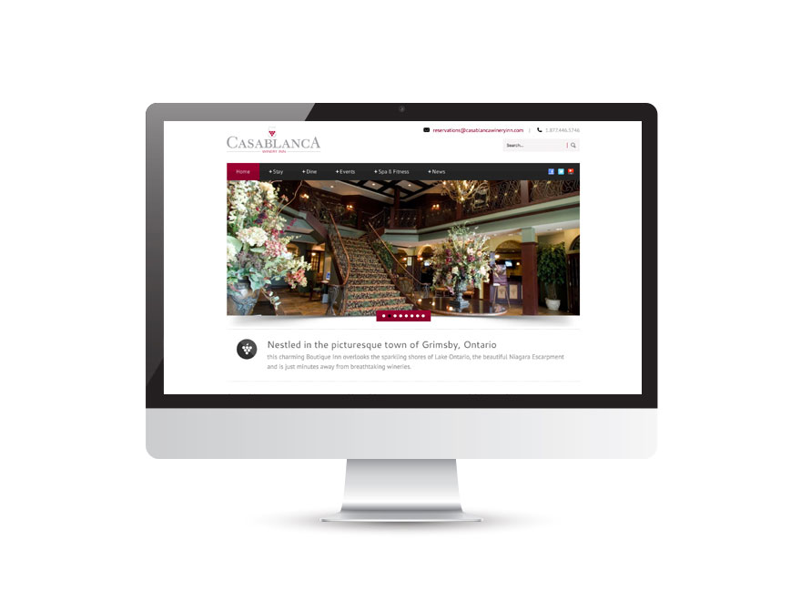 Casablanca Winery & Inn website design 1