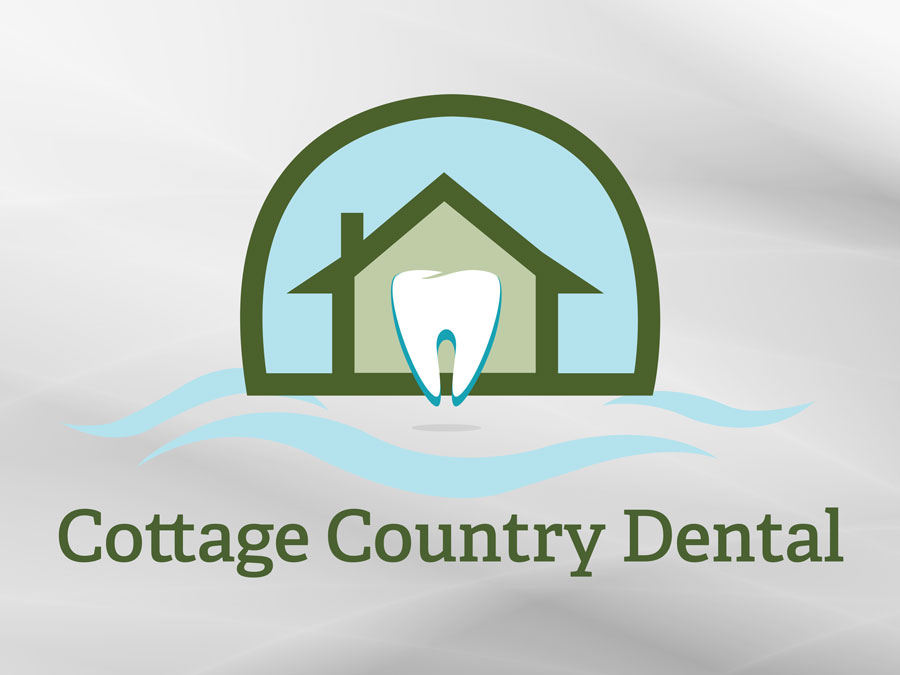 Cottage Country Dental logo design