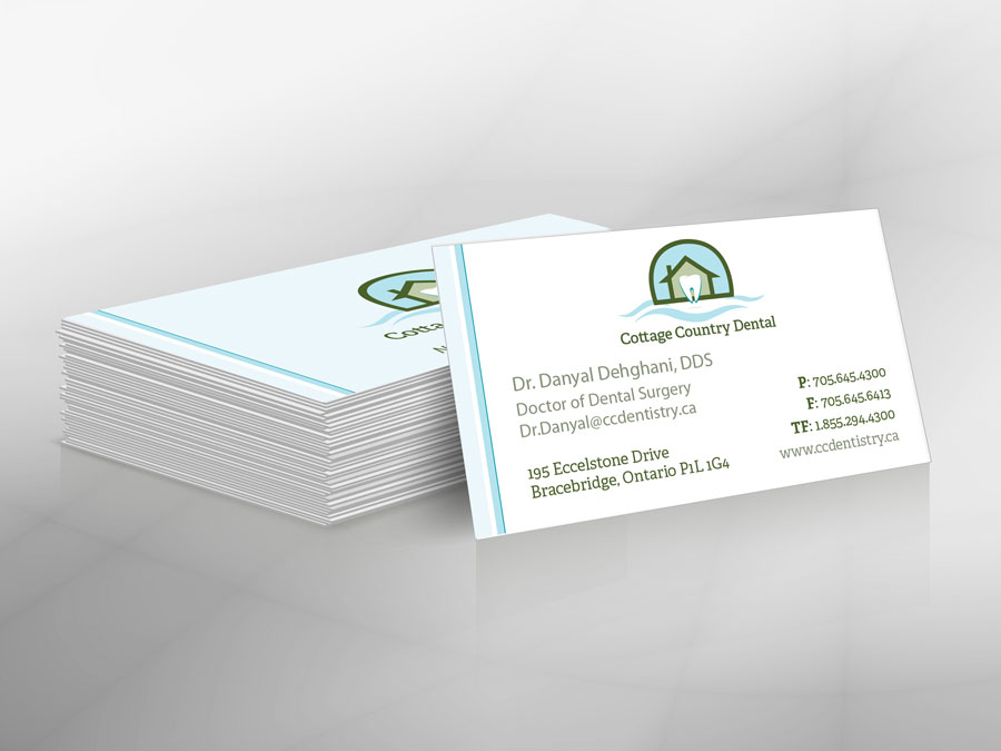 Cottage Country Dental business cards