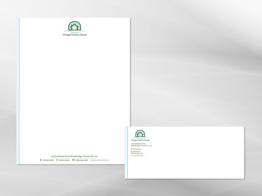 Cottage Country Dental letterhead design