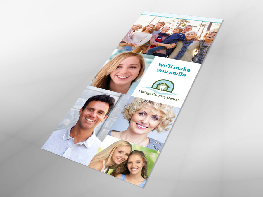 Cottage Country Dental brochure design 1