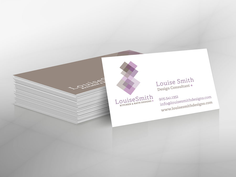Louise Smith Kitchen & Bath Designs business cards