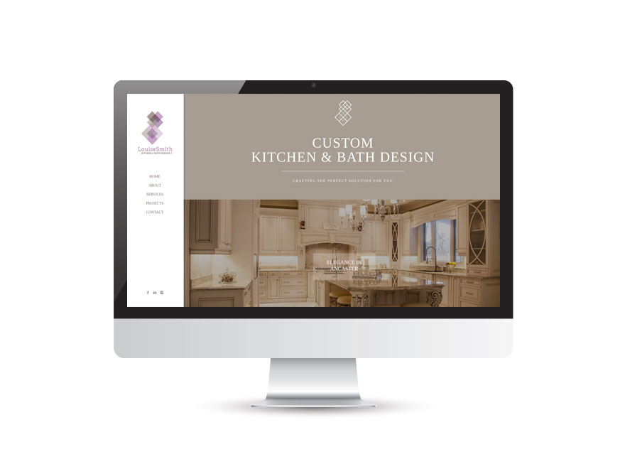 Louise Smith Kitchen & Bath Designs website design 1