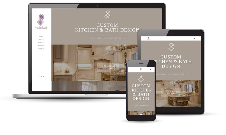 Louise Smith Kitchen & Bath Designs website design  2