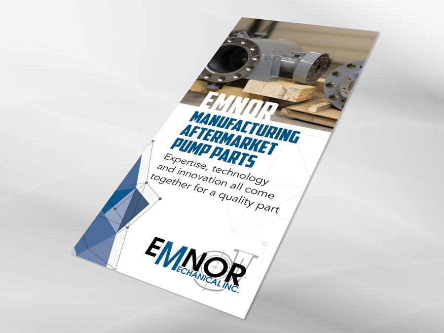 Emnor Mechanical Inc. brochure design front