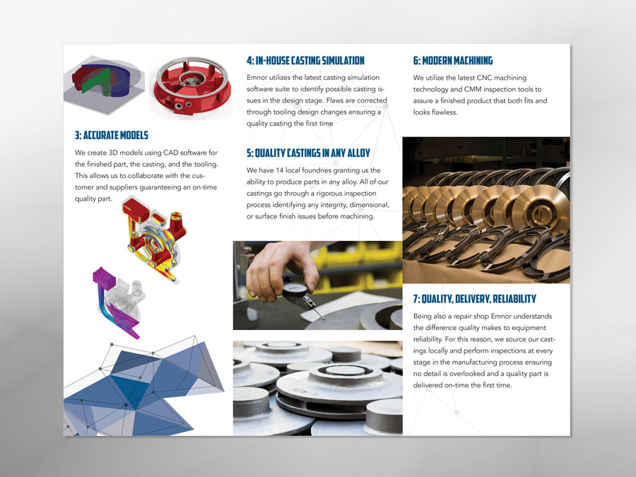 Emnor Mechanical Inc. brochure design inside