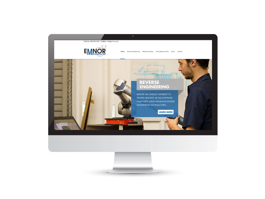 Emnor Mechanical Inc. website design 1