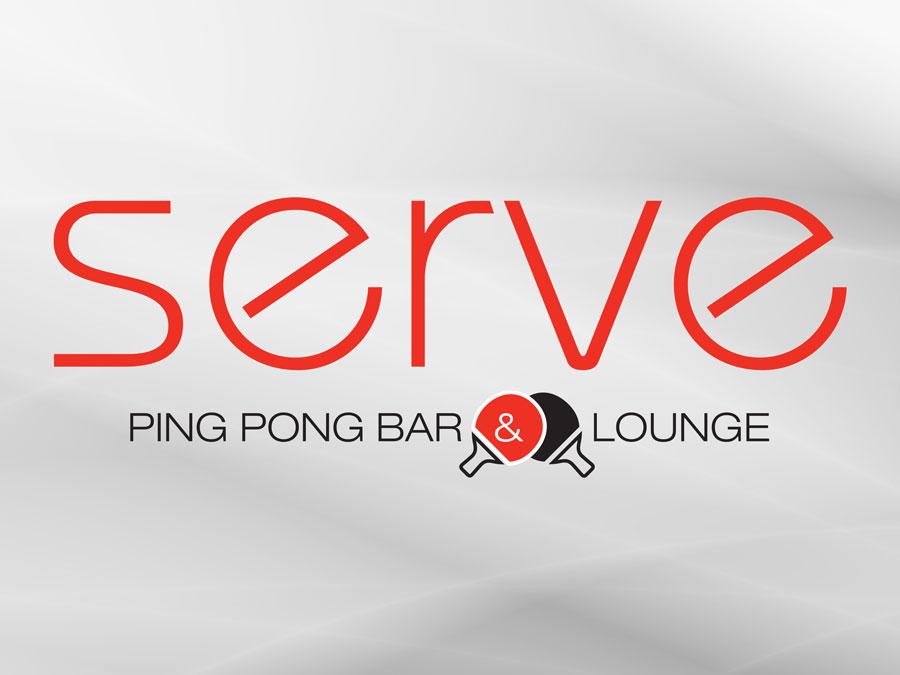 Serve Ping Pong Bar & Lounge logo design