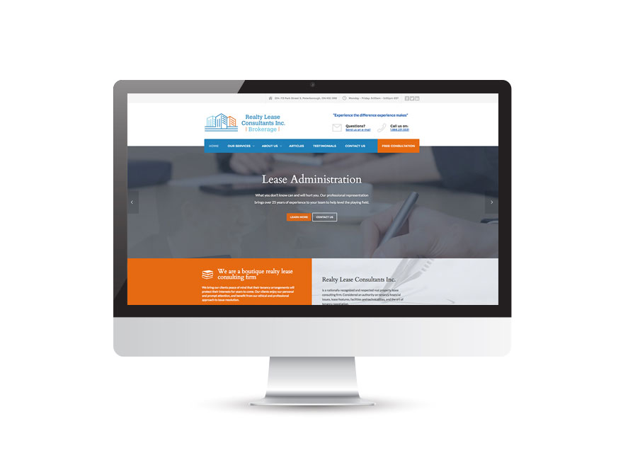 Realty Lease Consultants Inc. website 1