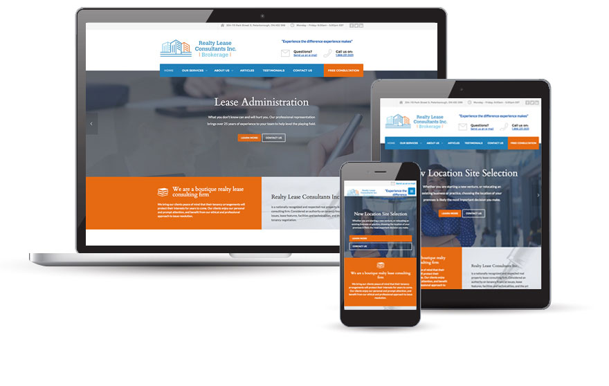 Realty Lease Consultants Inc. website design 2