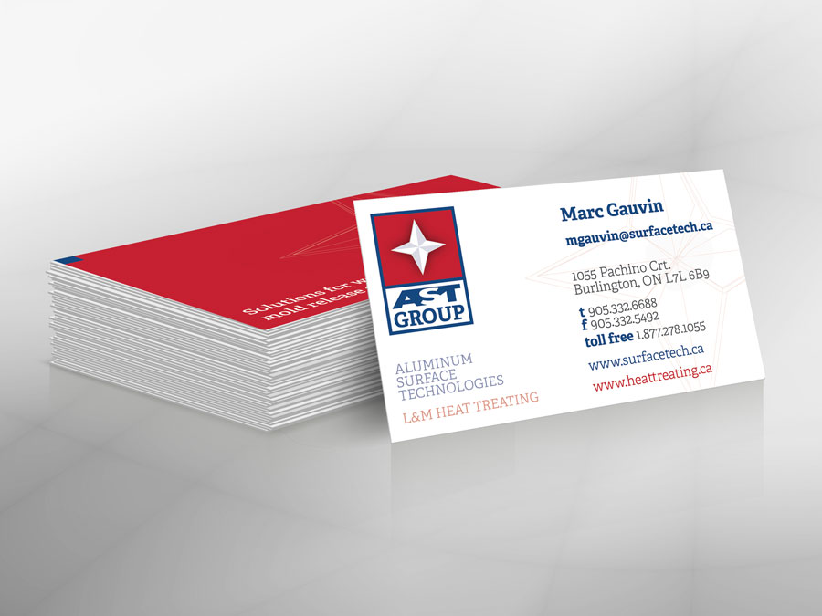 Aluminum Surface Technologies business cards