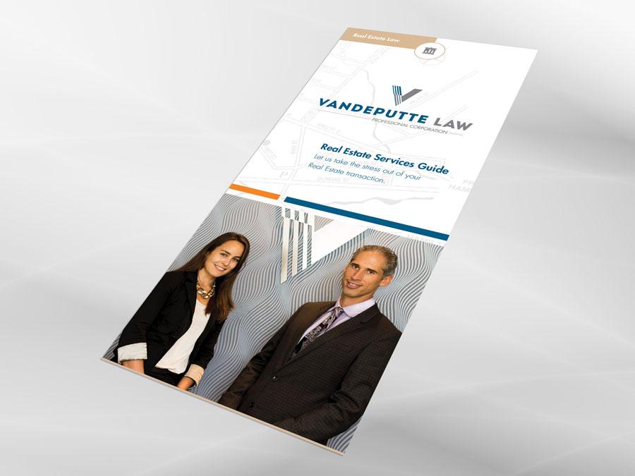 Vandeputte Law brochure cover design