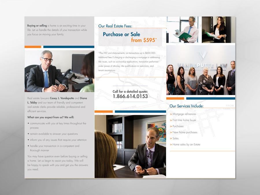 Vandeputte Law brochure inside design
