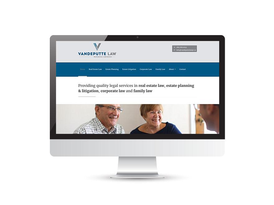 Vandeputte Law website design 1