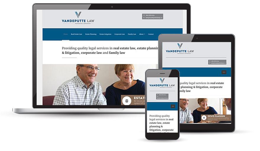 Vandeputte Law website design 2