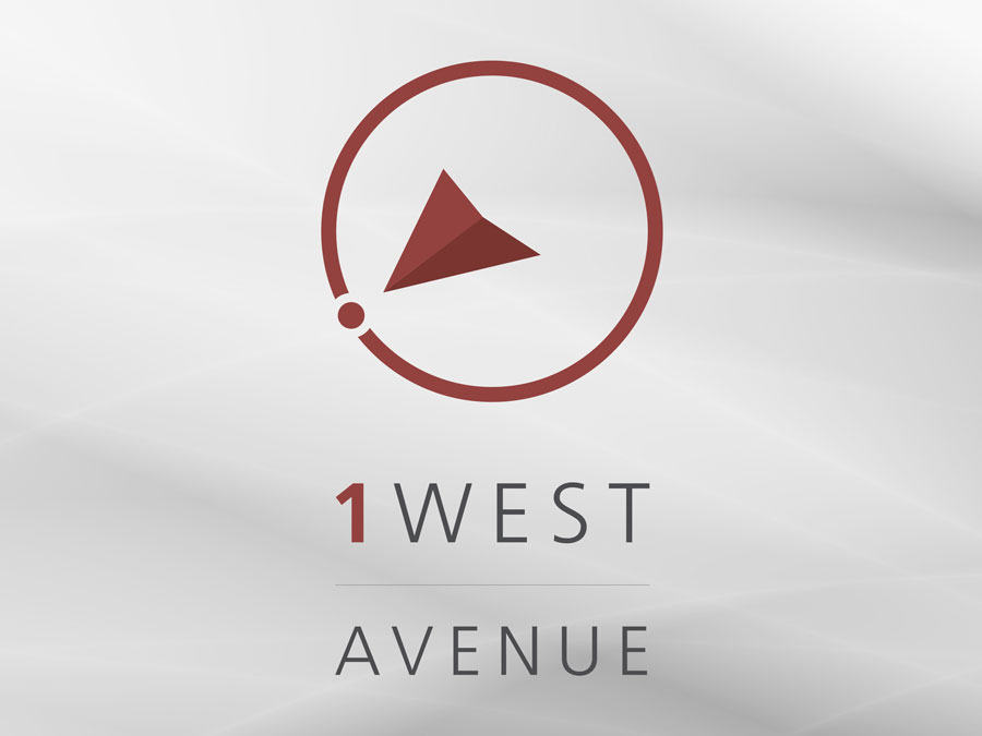 1 West logo design