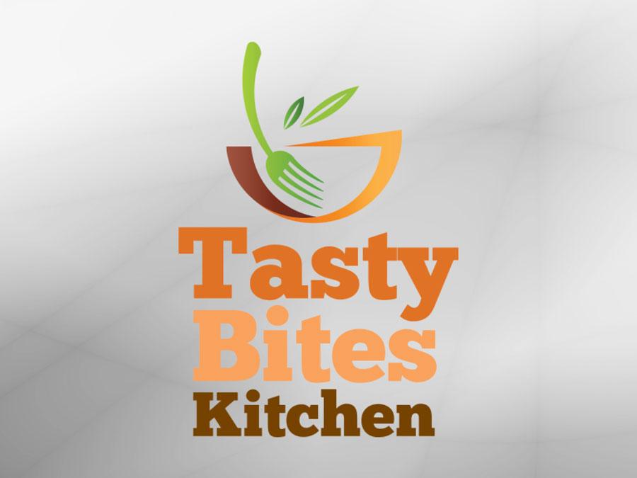 Tasty Bites Kitchen logo design