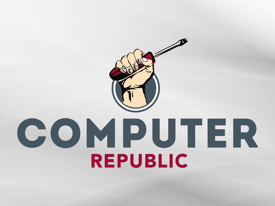 Computer Republic logo design