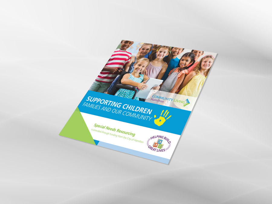 Community Living Hamilton brochure design