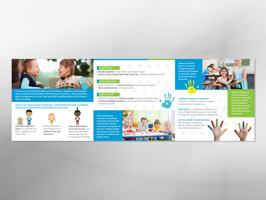 Community Living Hamilton brochure design inside